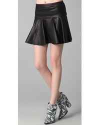 Thakoon - Leather Tulip Skirt - Lyst