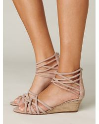 Free People Queen Wedge Sandal - Natural