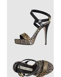 Gianmarco Lorenzi Platform Sandals - Lyst