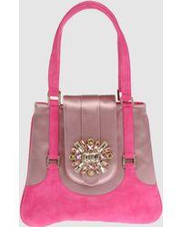 Rene Caovilla Medium Leather Bag - Purple