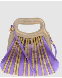 Rene Caovilla Small Fabric Bag - Purple