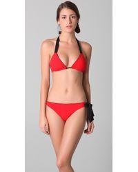 3.1 Phillip Lim - Red Ribbon Tie Bikini Set - Lyst