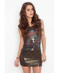 Nasty Gal Metallic Magic Skirt - Lyst