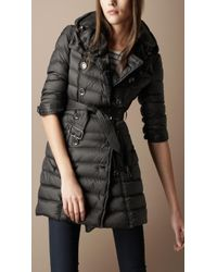 Burberry Brit Quilted Trench Coat - Lyst