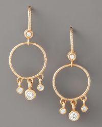 Dominique Cohen - Round Diamond-fringe Earrings, Rose Gold - Lyst