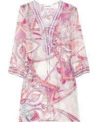 Emilio Pucci Printed Cotton and Silk-blend Kaftan - Lyst