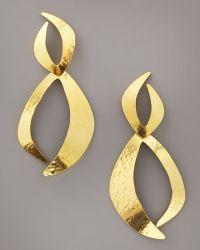 Herve Van Der Straeten Dove Earrings - Metallic