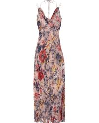 Jenny Packham Printed Silk-georgette Chemise - Lyst