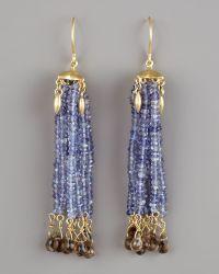Padma - Iolite Tassel Earrings - Lyst
