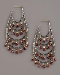 Padma - Four-row Tourmaline Hoop Earrings - Lyst