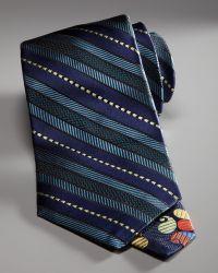 Robert Graham - Striped Silk Tie, Blue - Lyst