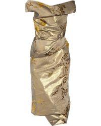 Vivienne Westwood Gold Label Cocotte silk-blend jacquard dress - Lyst
