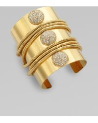 ABS By Allen Schwartz - Pavé Stone Chain Cuff Bracelet - Lyst