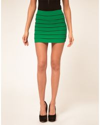 Asos Bodycon Skirt with Textured Panels - Lyst