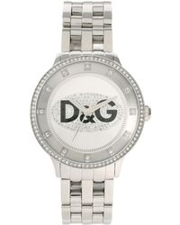 Dolce & Gabbana - D&g Stone Set Silver Bracelet Watch - Lyst