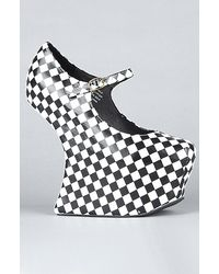 Jeffrey Campbell The Night Walk Shoe in Black and White Checkerboard - Lyst