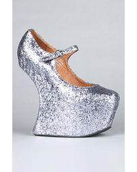 Jeffrey Campbell The Night Walk Shoe in Pewter Glitter - Lyst
