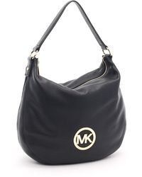 Michael Kors Large Fulton Shoulder Bag, Black - Lyst