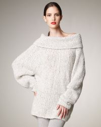 Donna Karan New York Boucle Sweater - Lyst