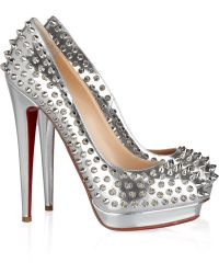 Christian Louboutin Alti 160 Spiked Metallic Leather Pumps - Lyst