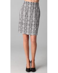Willow - Hand Weave Fitted Skirt - Lyst