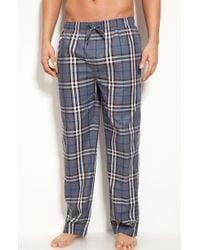 Burberry Check Pajama Pants gray - Lyst