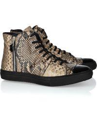 Georgina Goodman Snake-embossed Leather Sneakers - Lyst