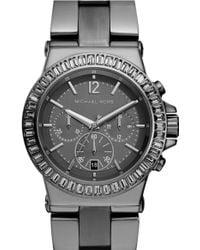 MICHAEL Michael Kors Michael Kors Bel Aire Crystal Bezel Chronograph Watch - Lyst