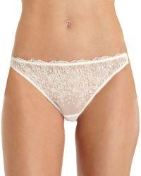 Nina Ricci Dotted Slip Thong white - Lyst
