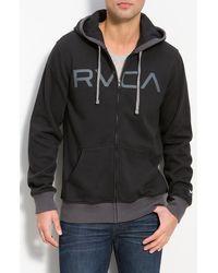 RVCA Contrast Hoodie - Lyst