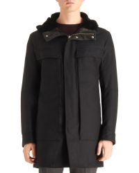 Theory Hooded Parka - Lyst