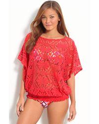 Trina Turk Kuta Crochet Cover-up - Lyst