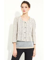 Dolce & Gabbana Crop Tweed Jacket - Lyst