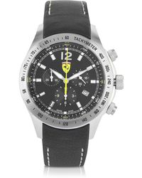 Ferrari - Scuderia Ferrari Black Chrono Watch - Lyst