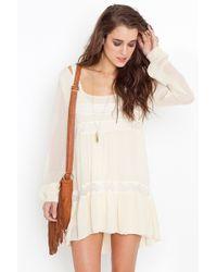Nasty Gal Bowery Dress - Ivory - Lyst