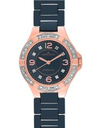 Ak Anne Klein | Diamond Dial Ceramic Watch | Lyst