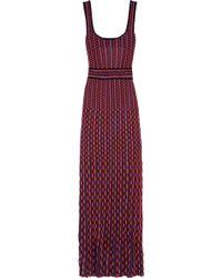 M Missoni Cotton-blend Crochet-knit Maxi Dress - Lyst