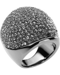 Michael Kors Pave Dome Ring - Metallic