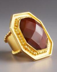 Stephanie Anne Smoky Topaz Button Ring - Lyst
