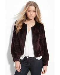 Trouvé Dyed Faux Shearling Cropped Jacket - Lyst