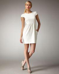 Shoshanna Cap-sleeve Shift Dress - Lyst
