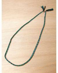 Alyssa Norton - Alyssa Norton Sterling Silver and Braided Silk Necklace - Lyst