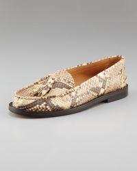 Chloé Python Loafer - Brown