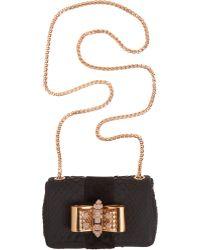 Christian Louboutin Python Mini Sweet Charity Bag - Lyst