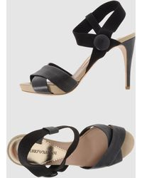 Emporio Armani Platform Sandals - Lyst