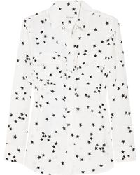 Equipment Star Print Shirt white - Lyst