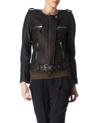Isabel Marant Leather Biker Jacket - Lyst