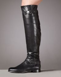 Vera Wang Lavender Jemma Flat Leather Knee Boot - Lyst