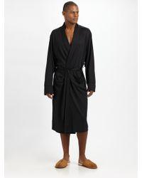American Essentials - Silk/cotton Robe - Lyst