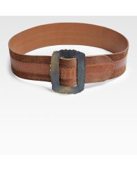 Donna Karan New York Leather Icon Belt - Lyst
